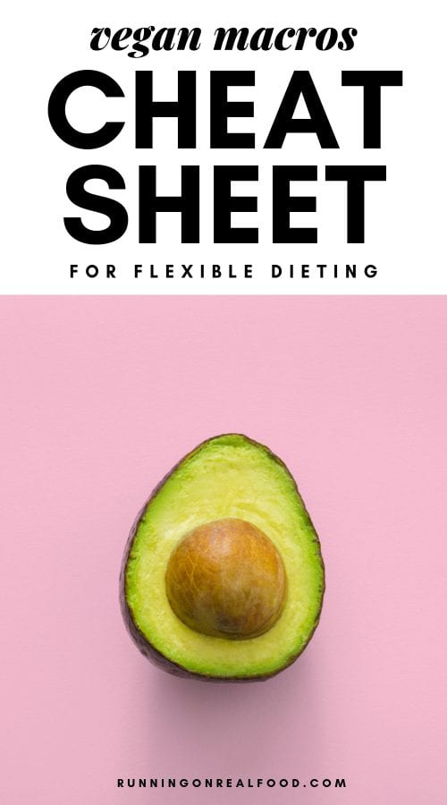 Vegan macros cheat sheet for flexible dieting.