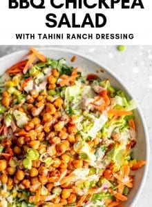 Vegan BBQ Chickpea Salad with Ranch Dressing