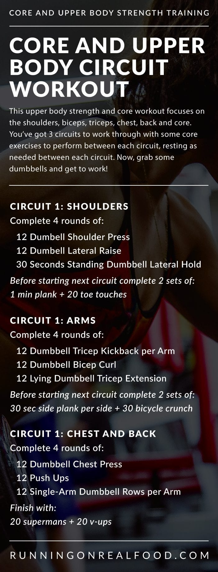 Core and Upper Body Circuit Training Workout