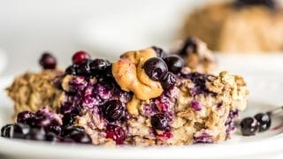 Breakfast: Easy Banana Baked Oatmeal