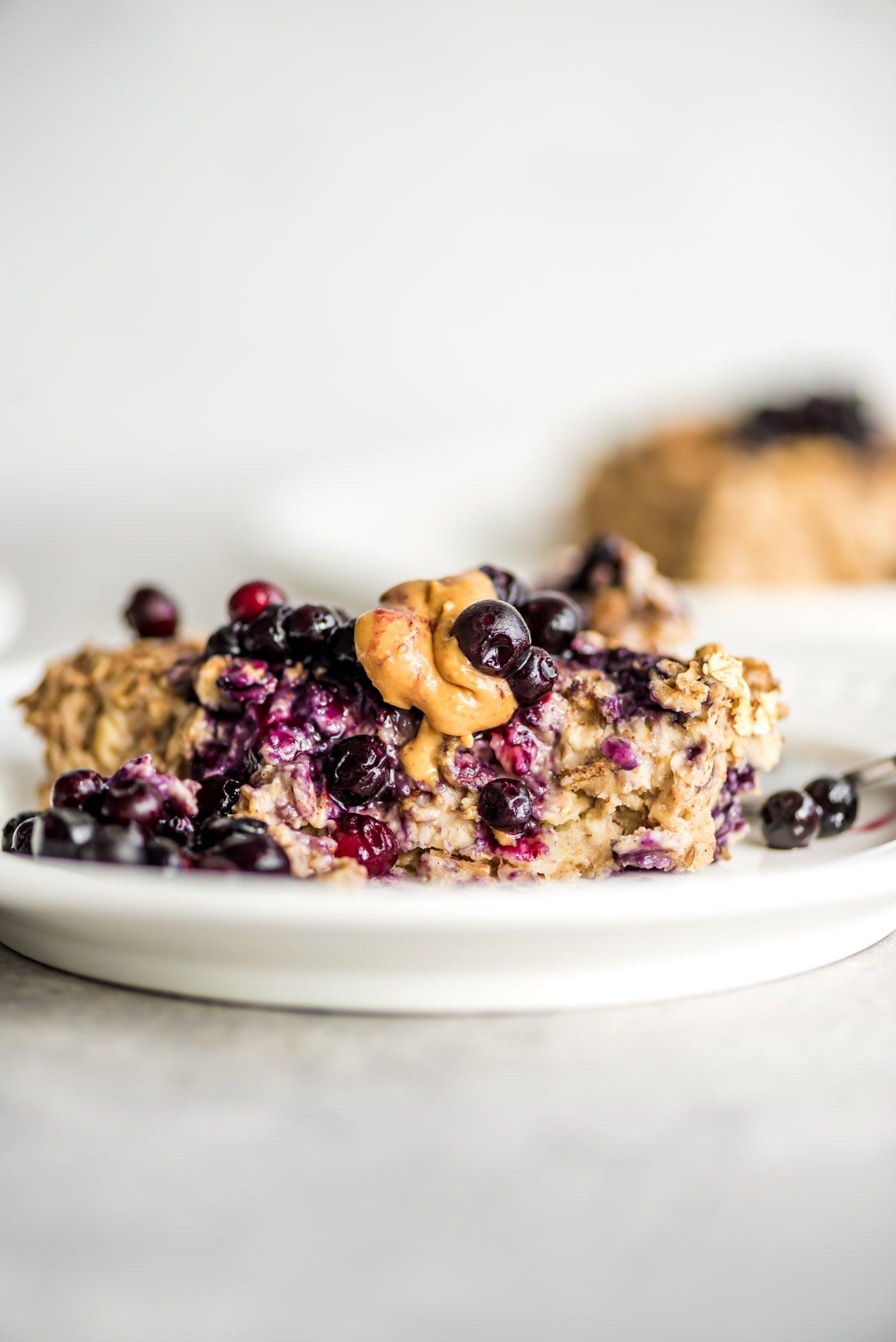 Easy Banana Baked Oatmeal Recipe Vegan Running On Real Food