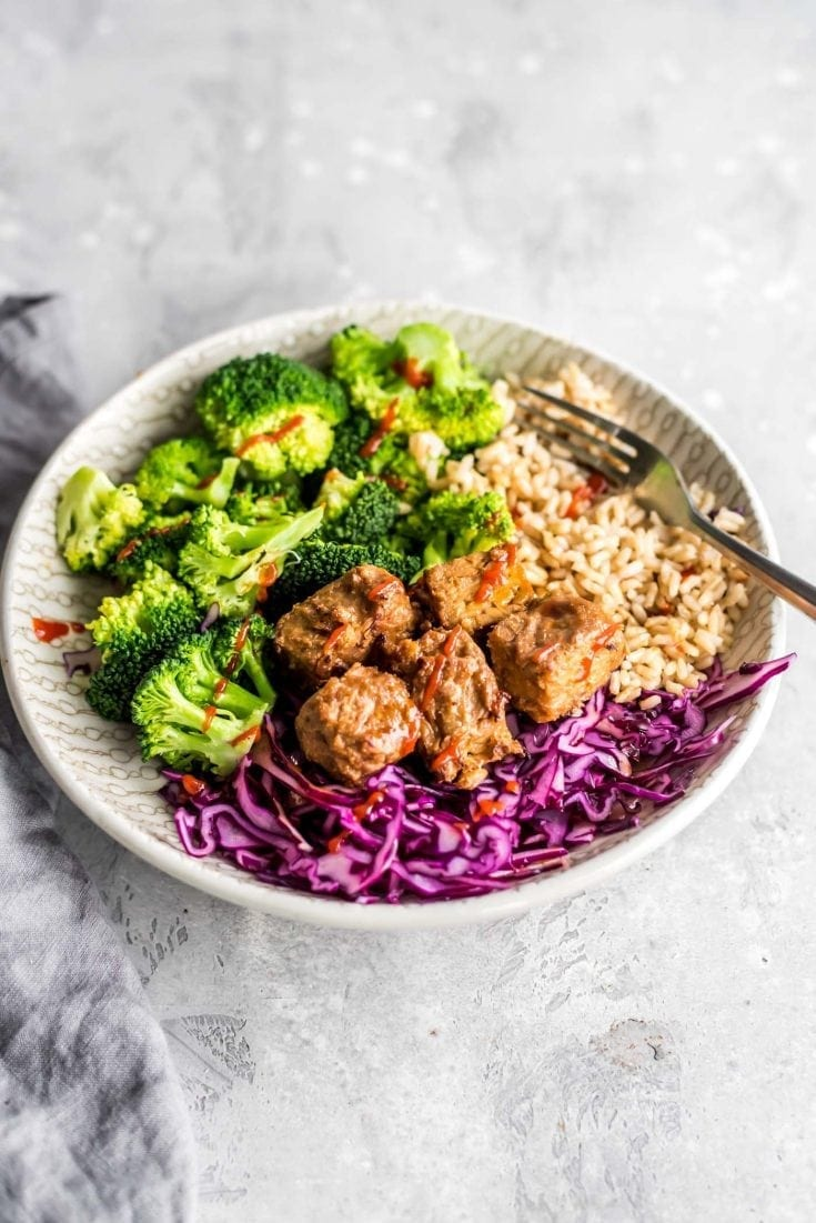 Brown Rice and Baked Tempeh Bowls