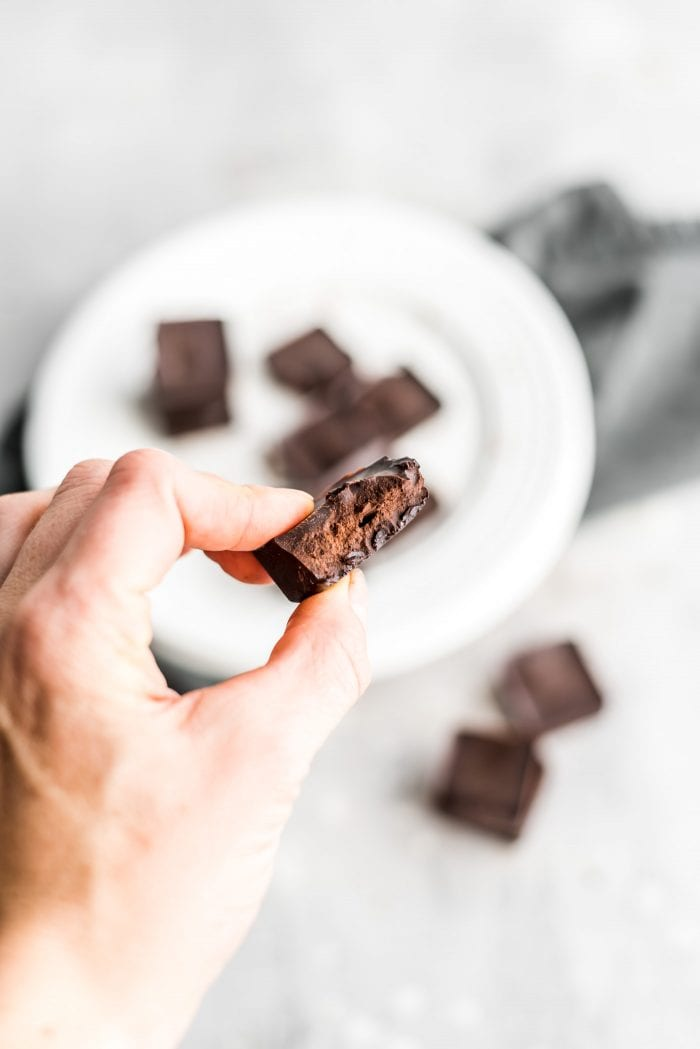 These vegan chocolate fat bombs are like a homemade Icy Square.