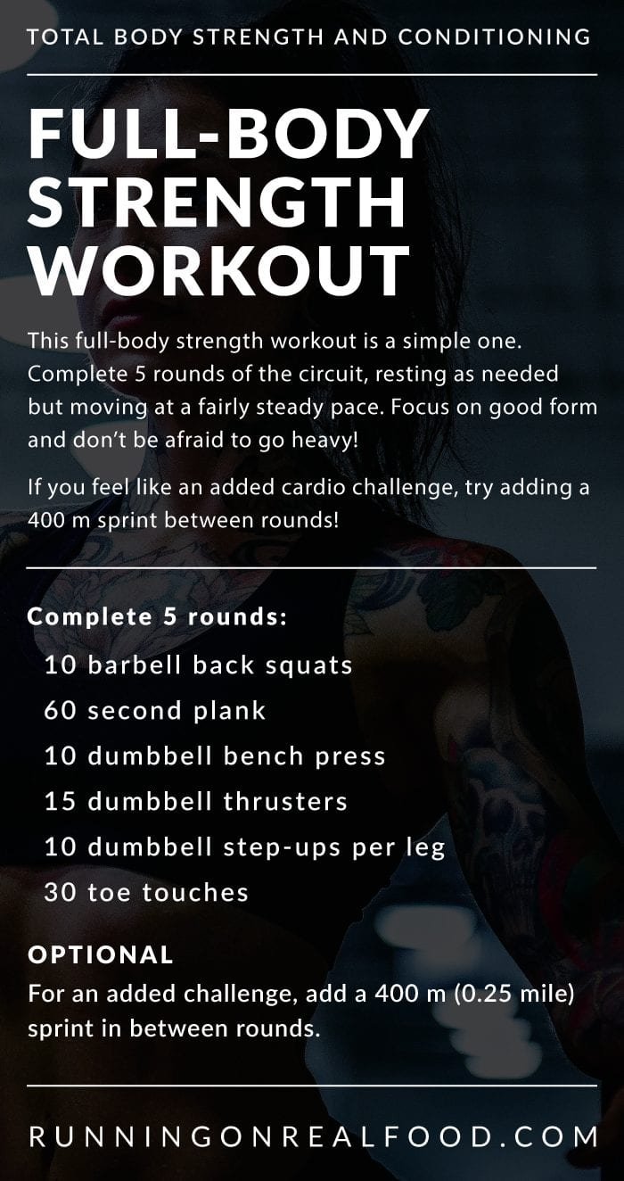 5 Rounds Full-Body Strength Training Workout Details
