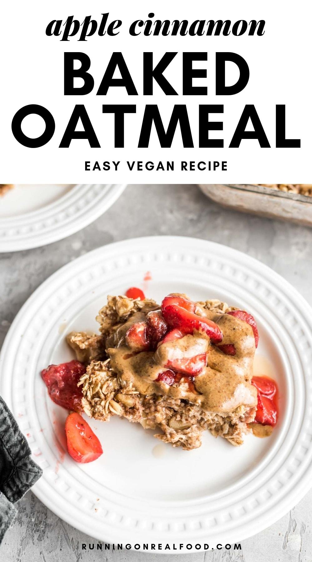 Apple Cinnamon Baked Oatmeal Pinterest Graphic