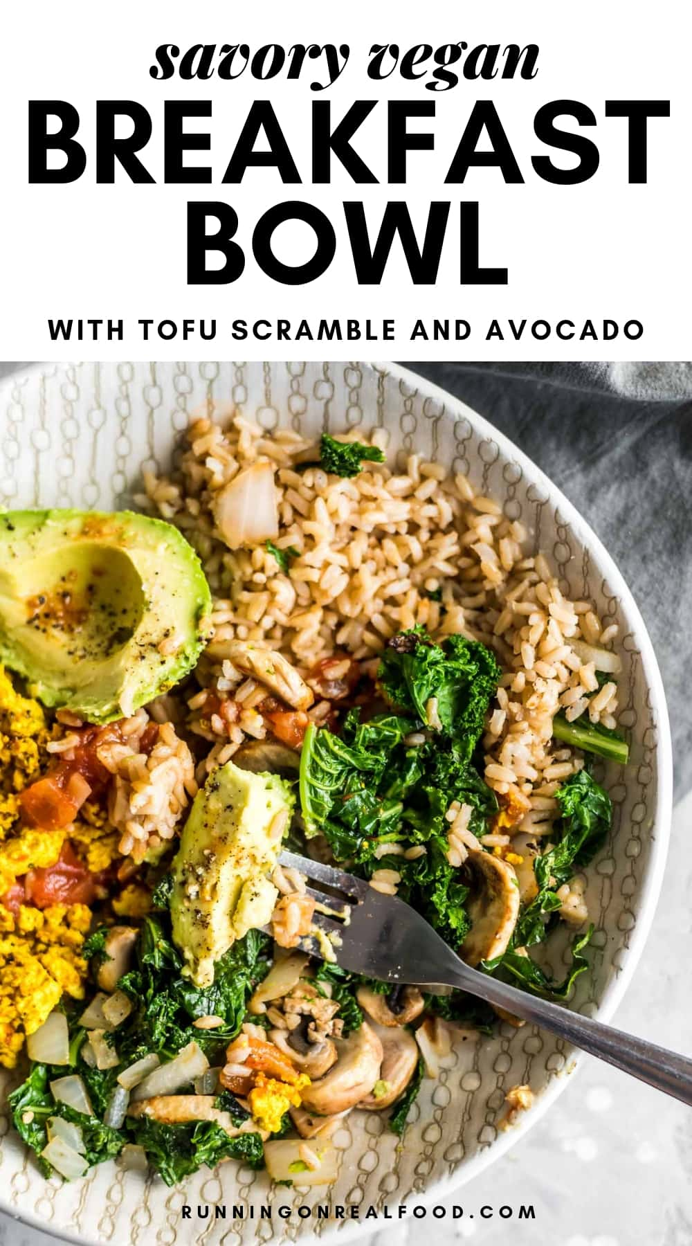 Savory Vegan Breakfast Bowl Pinterest Image