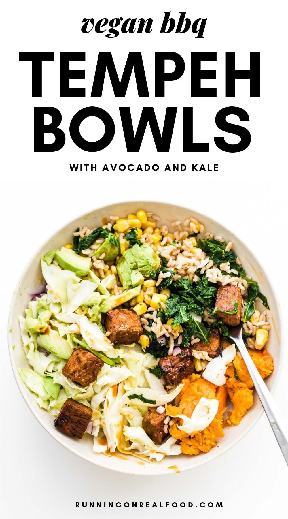 BBQ Tempeh Bowls Pinterest Image