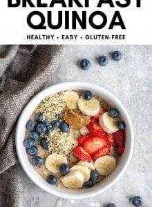 Pinterest image for breakfast quinoa.