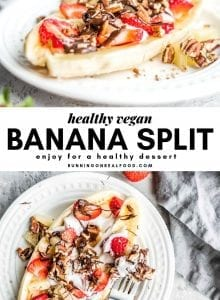 Healthy Vegan Banana Split Pinterest Graphic