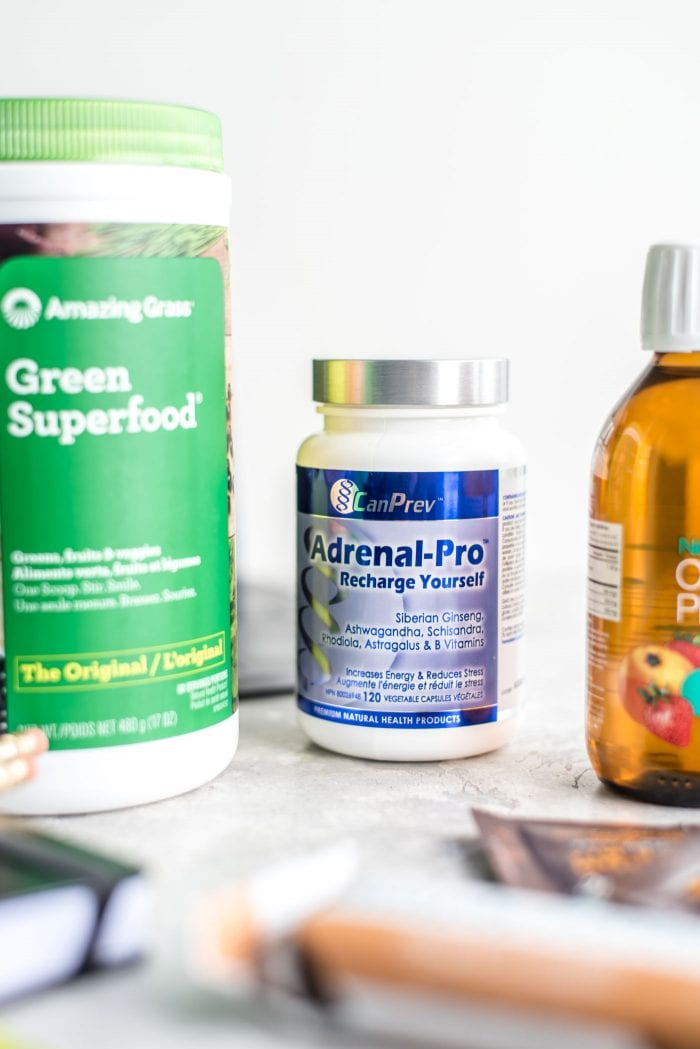 A container of Adrenal-Pro from Can Prev.