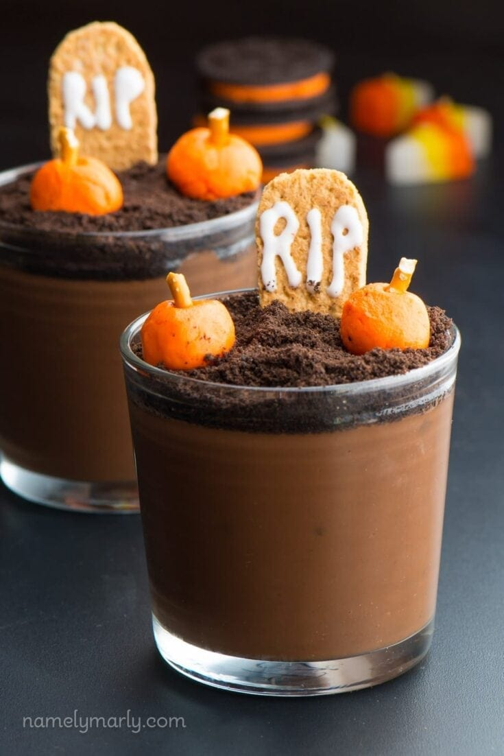 Vegan Halloween Pudding Cups Recipe