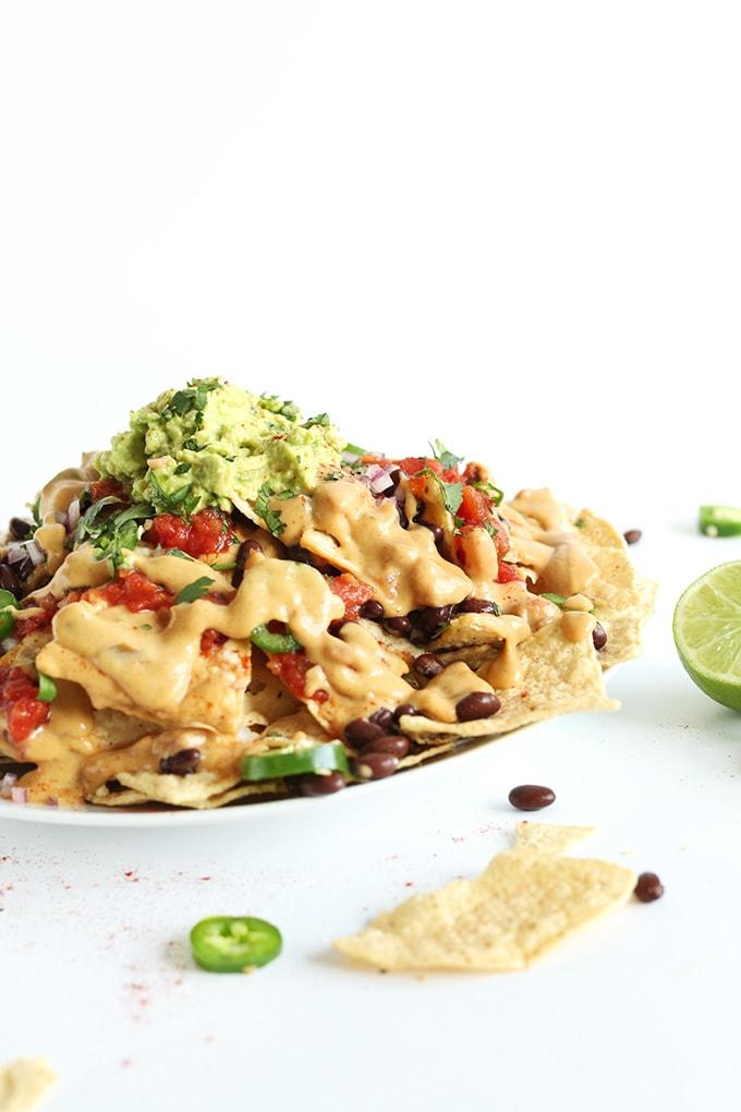 Vegan Nachos with Queso