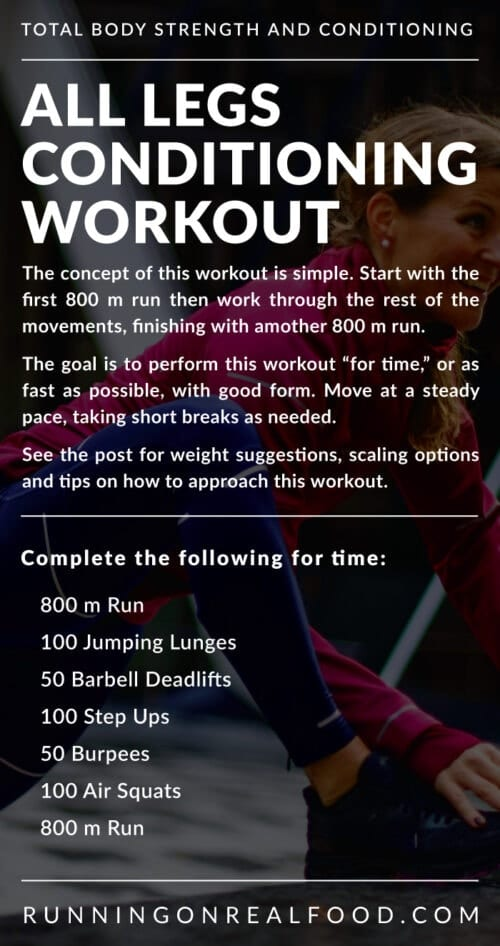 Workout description for a CrossFit-style conditioning workout.