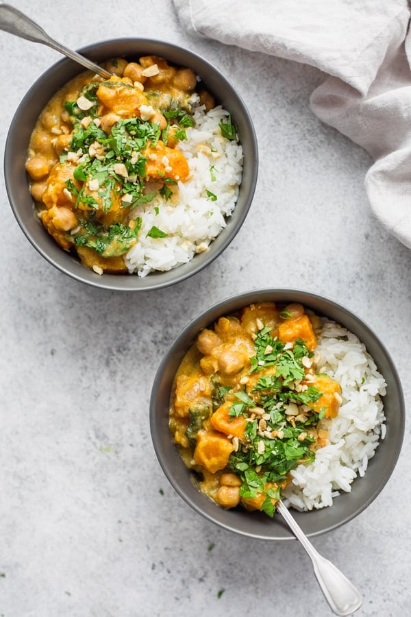 Slow Cooker Pumpkin Chickpea Curry