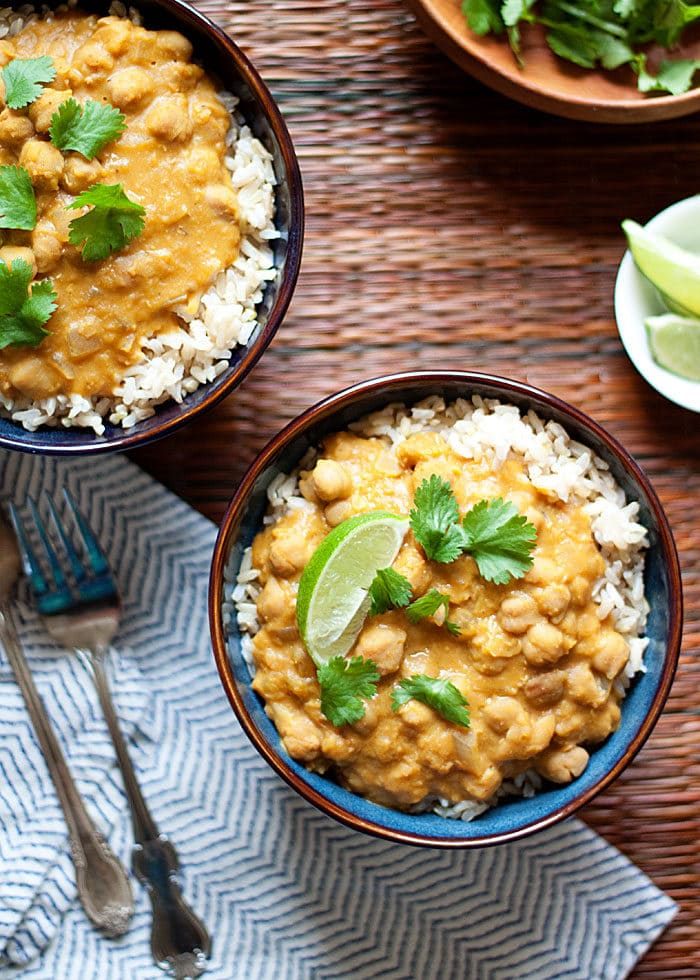 Slow Cooker Pumpkin, Chickpea, & Red Lentil Curry