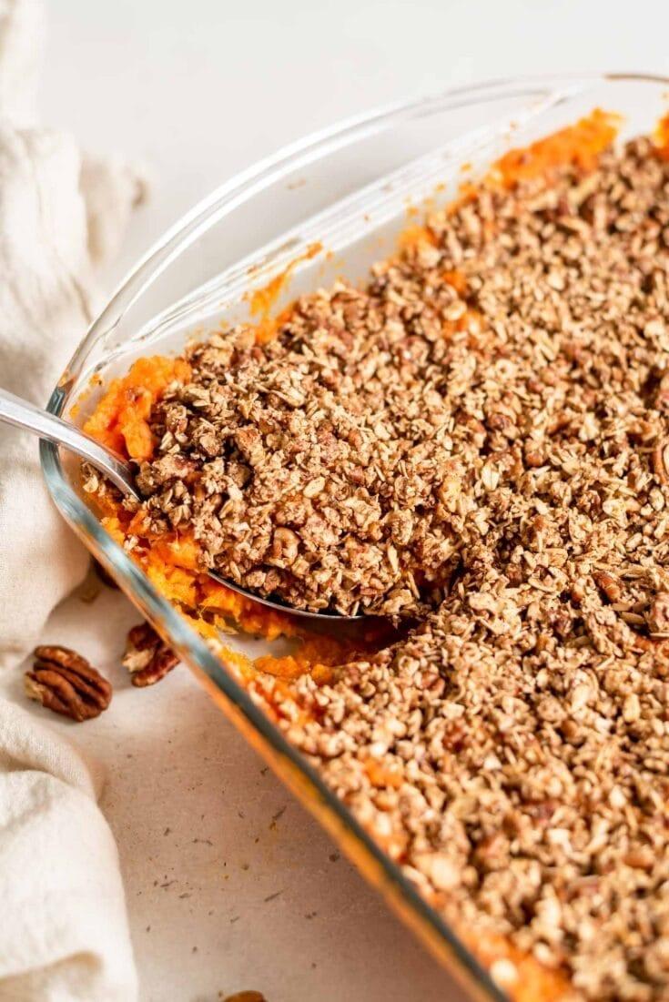 Healthy Vegan Sweet Potato Casserole