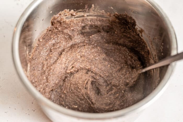Blended refried beans in an Instant Pot.