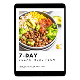 Cover of a 7 day meal plan ebook on an ipad.