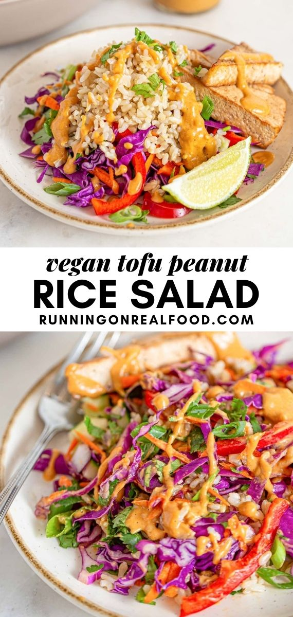 Pinterest graphic with an image and text for Thai chopped salad.
