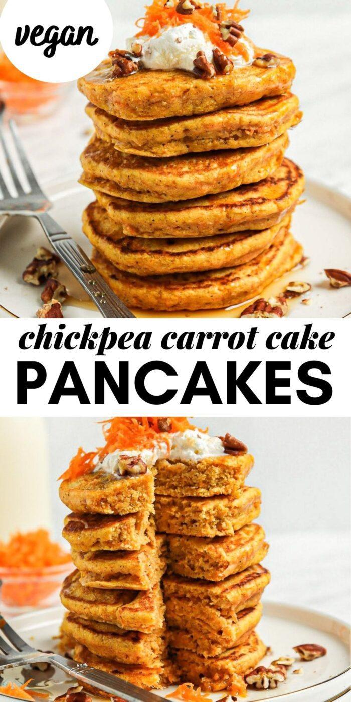 carrot cake pancakes pin